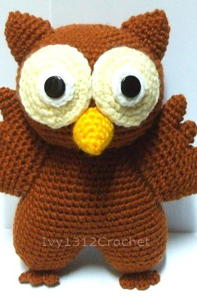 Owl - Handmade Amigurumi crochet doll Home decor birthday gift Baby shower toy