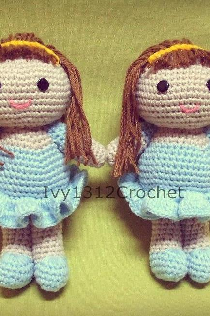 Ballet Doll - Handmade Amigurumi crochet doll Home decor birthday gift Baby shower toy