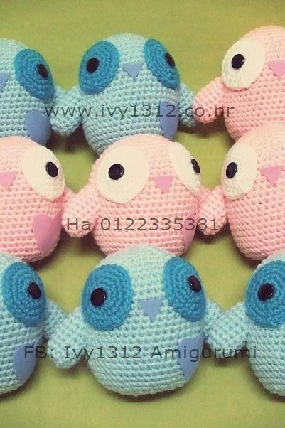 Love Birds - Handmade Amigurumi crochet bird doll birthday anniversary Valentine gift (Price for each item)