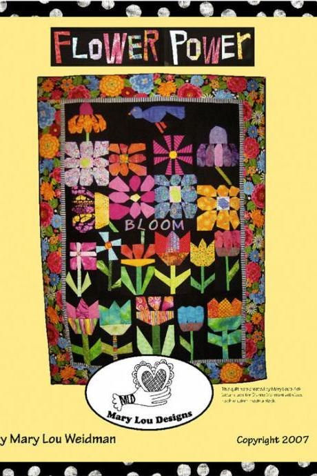 Flower Power Quilt Instruction Book by Mary Lou Weidman Easy and Fun