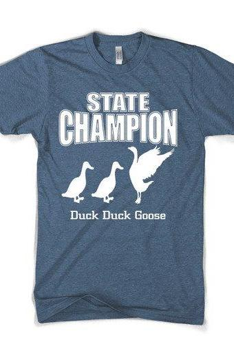 Duck Duck Goose t shirt funny shirt S-3XL