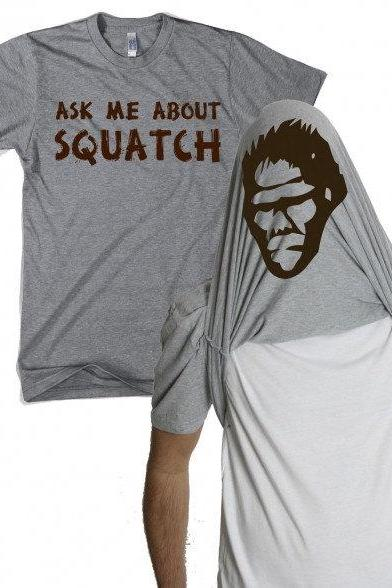 Ask Me About Squatch Shirt flip t shirt S-3XL