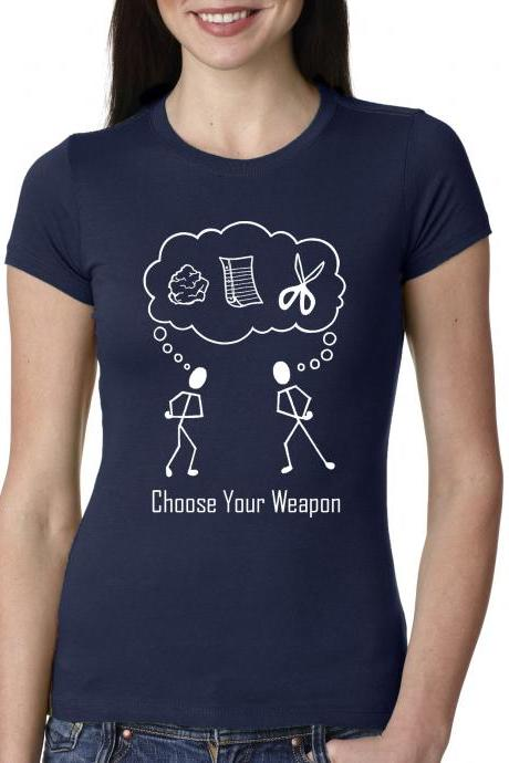 Rock paper scissors t shirt Choose your weapon S-3XL