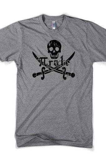 Pirate t shirt funny math shirt S-3XL