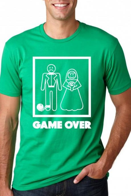 Game over shirt funny wedding bachelor party S-3XL