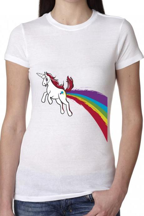 Rainbow Unicorn t shirt funny shirt printed on our soft tees size S-4XL