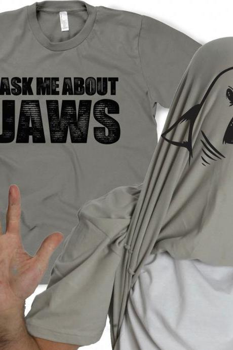 Ask Me about my Shark shirt shark flip t shirt S-4XL