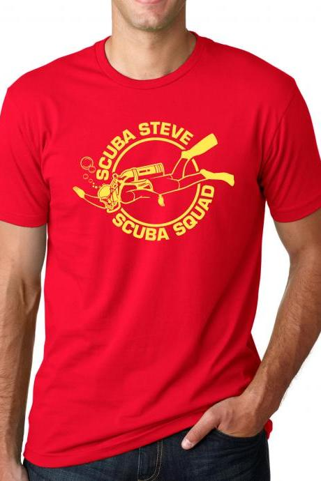 Scuba Steve t shirt funny shirt great vintage design S-4XL