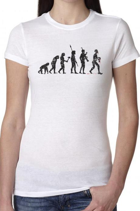 Zombie t shirt zombie evolution cool shirt S-4XL