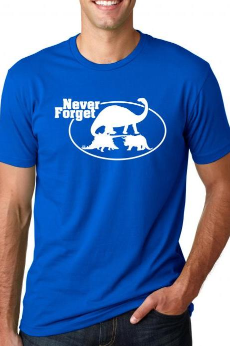 Dinosaur t shirt Never forget shirt S-4XL