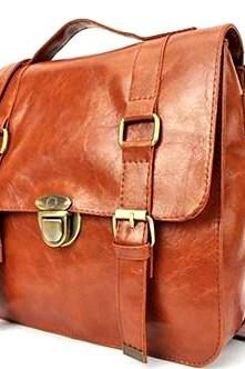 Brown PU Leather Handbag