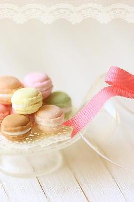 Dollhouse Miniature Food - Sweet Macarons on Glass Display Stand