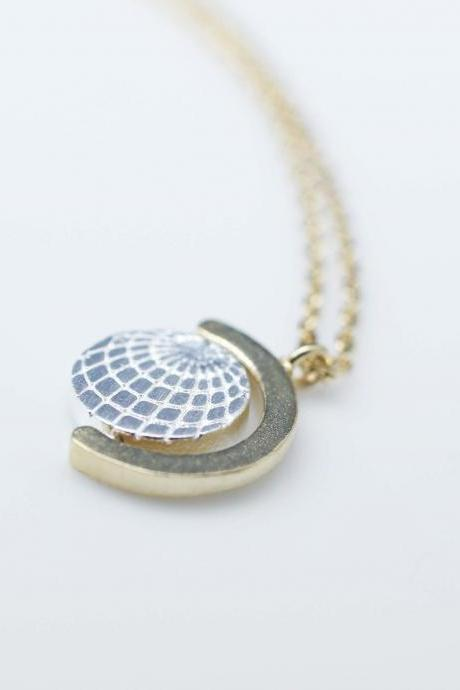 Earth Globe Pendant Necklace in gold