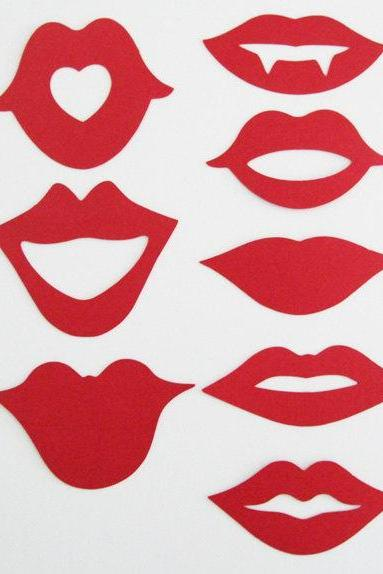 Hot Lips Photo Set (16 pcs)