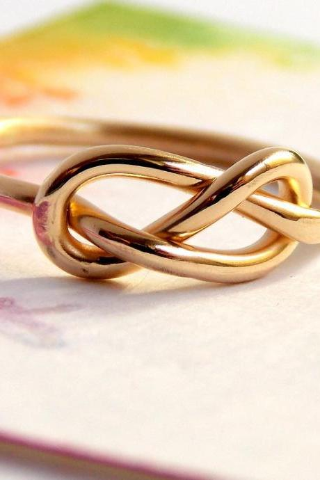 Infinity Knot Ring-- 14K Gold-filled ring, gold filled ring, love ring, love knot, Mother's Day, promise ring, infinity friendship ring