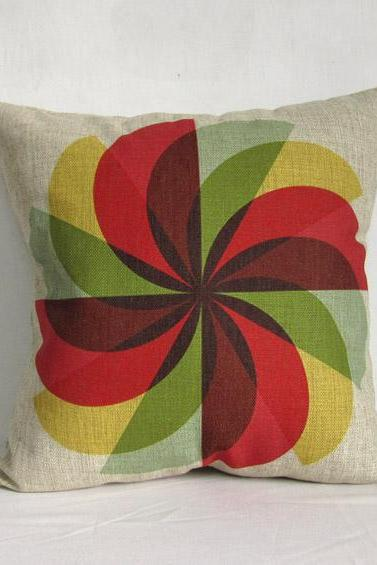 Decorative Linen Pillow Cushion Cover Geometry Colorful Housewares Home Decor 18'