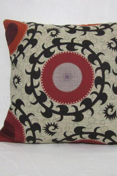 Decorative Linen Pillow Cushion Cover Floral Cover Flower Housewares 18'