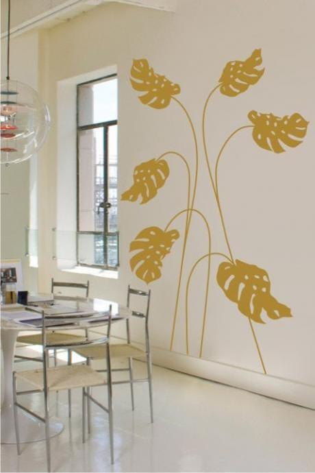 Huge Leafs FLOWER Decor Wall Art Sticker Decal Vinyl