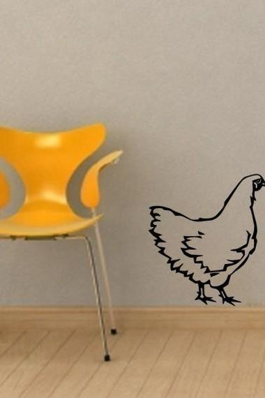 Chicken Hen - Vinyl Wall Art Sticker Decal