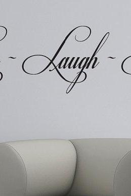Live Laugh Love wall decals art mural quote lettering living room stickers - Wall Decal Quotes