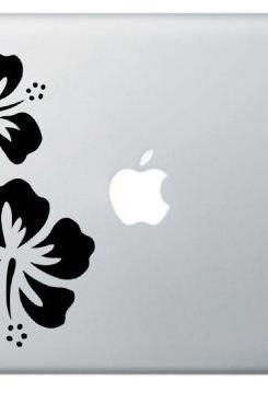 SALE Buy 2 get 1 Free - Art Floral Hibiscus Blossom - Macbook Decal for Laptops, Mac decals
