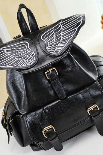 Black Angel Wing Backpack