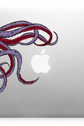 Cute Friendly Octopus, Squid, Sea Design for Apple, Mac, Laptops Vinyl Sticker Decal Full Color