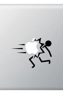 SALE - Hit Apple Stick Figure for Macbook Apple IPad Macbook Pro, IPad, Laptops, Cars and other