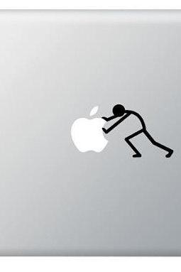 Push Stick Figure Vinyl Decal, Sticker for Macbook, Macbook Pro, IPad, Laptops, Cars and other
