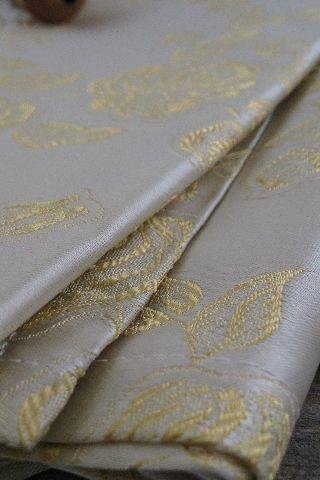 RESERVED for Veraandrose...Vintage Satin Brocade Drapery Fabric Panels Roses Pattern