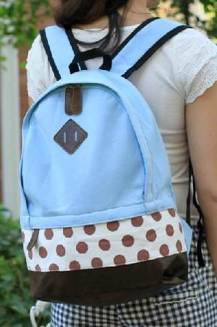 Mint Polka Dots Backpack