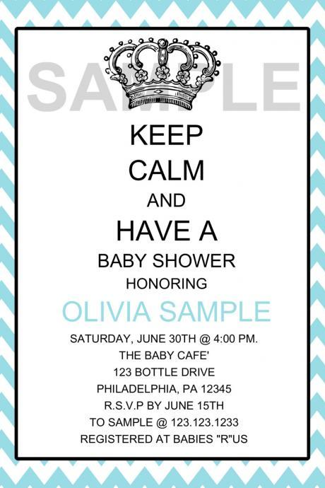 KEEP CLAM Boy Baby Shower Invitation (Digital File)