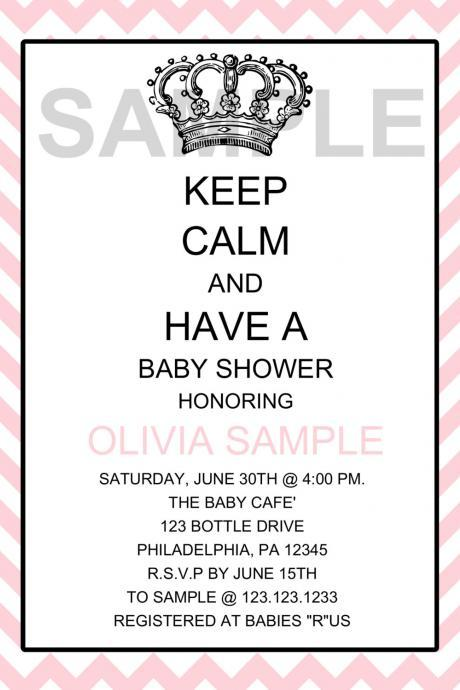 KEEP CLAM Girl Baby Shower Invitation (Digital File)