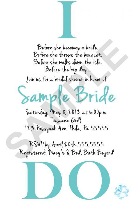 I DO Bridal Shower Invitation (Digital File)