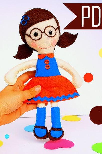 Soft Rag Doll PATTERN, Mary Rag Doll Sewing pattern, Instant Download, Plush, Softie, Rag Doll Pattern MariaPalito A800