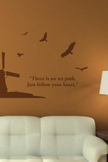 windmill and eager bird Vinyl Wall Decal Sticker kitchen glass stairs sticker Art Home Murals 098