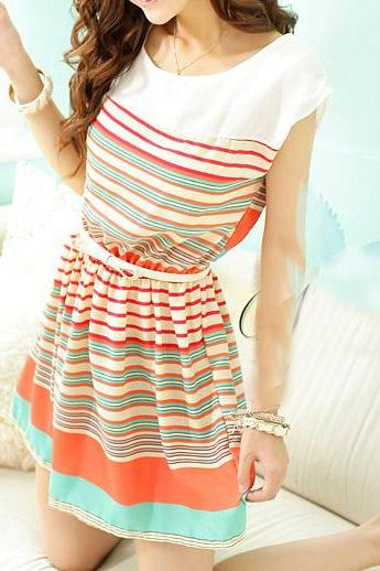 Striped dressAA 070305