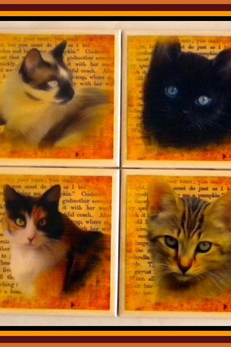 Coaster - Ceramic Tile - Cats - Your Choice
