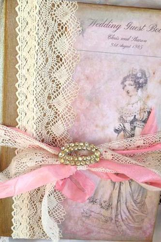 Wedding Guest Book - Jane Austin Theme vintage style - 60 page