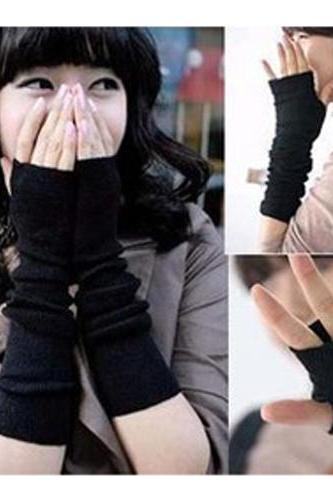 Arm Warmers Long Gloves Fingerless Mittens