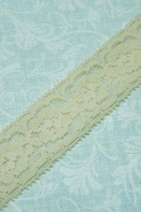 1 yard of 1 inch Ivory Beige Nude Stretch elastic lace for bridal, baby headband, lingerie, garter, hair acc by MarlenesAttic - Item X5