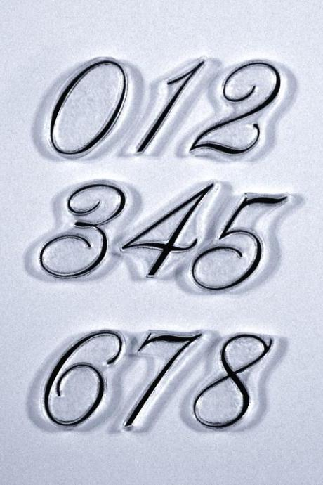 By the Numbers Clear rubber stamps