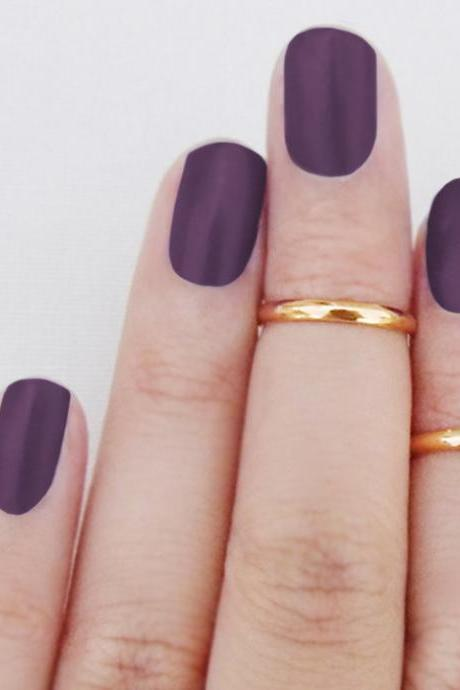 Rouelle CHAYA 14K Three Knuckle Rings: Dainty 14 Karat Gold Above the Knuckle Rings