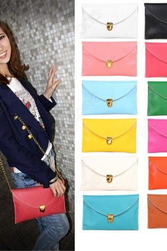 Fashion Women Handbag Envelope Clutch Purse Shoulder Hand Tote Bag 13 Colors