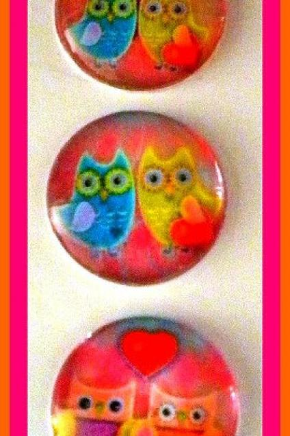 Magnets - Set of 3 - Owls in Love