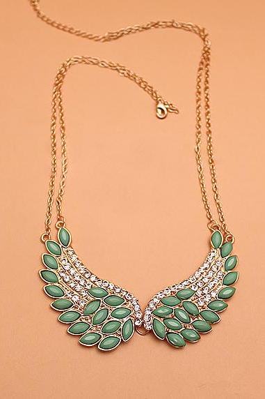 Gold necklace Angel wing