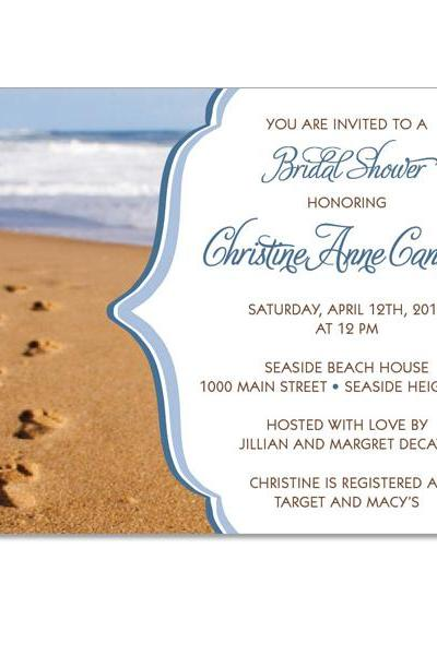 Footprints in the Sand Custom Invitations