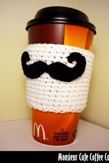 Monsieur Cafe Coffee Cozy Crochet Pattern