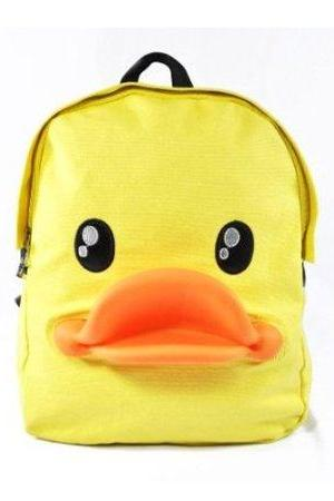 3-D Rubber Duck School Bag Campus Backpack Bag