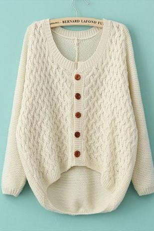 cardigan sweater jacket retro twist A 081905